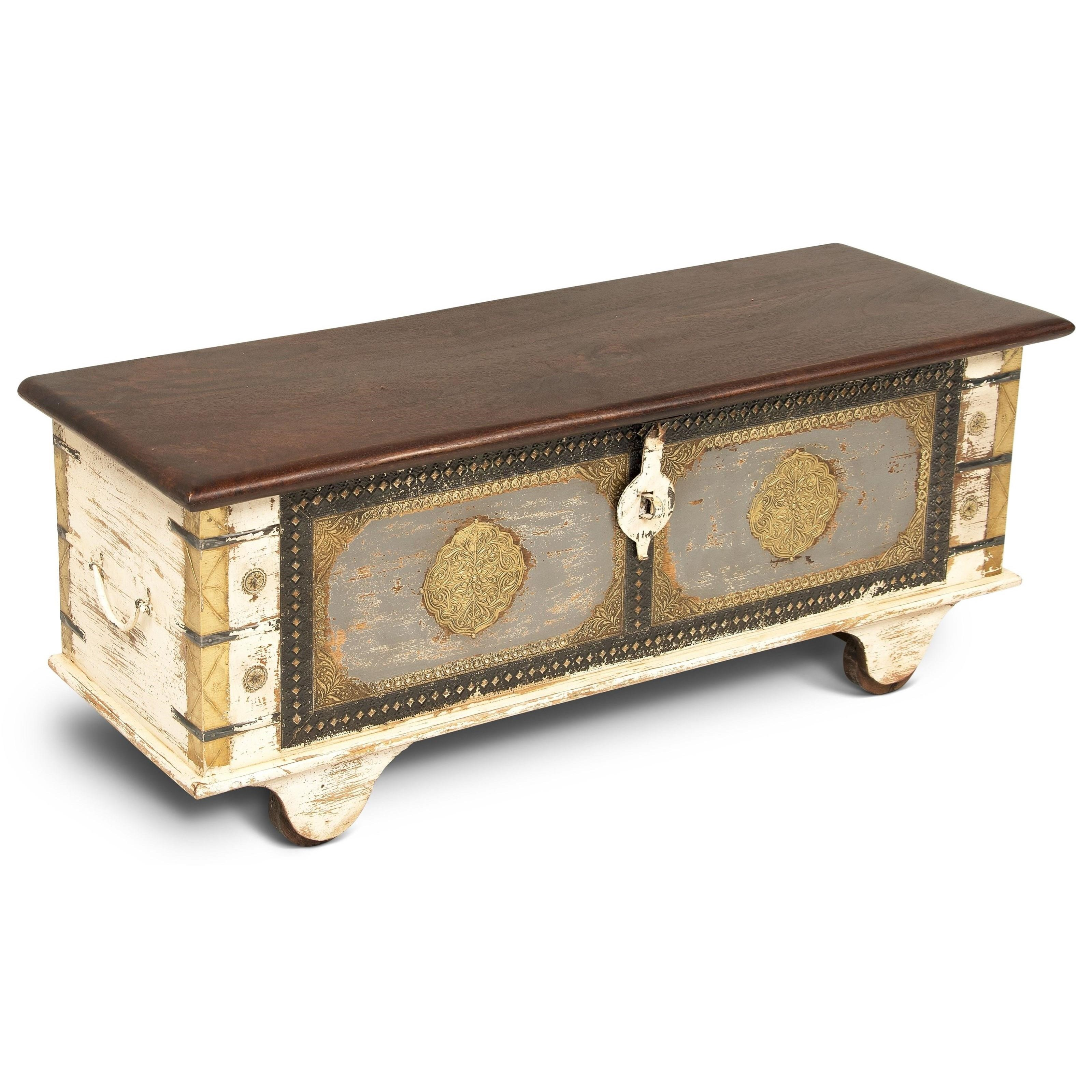 India Accents Zahra Storage Trunk by Steve Silver at Walker's Furniture