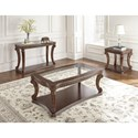 Steve Silver Innsbruck Traditional End Table with Scrolled Legs