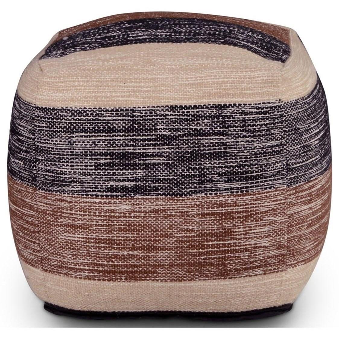 Steve Silver Jamal Jm180p Handwoven Cube Pouf O Dunk O Bright Furniture Poufs