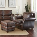 Morris Home Jamestown Chair & Ottoman Set - Item Number: JT800C+JT800T