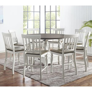 9-Piece Round Counter Table Set