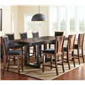 Morris Home Furnishings Julian 9 Piece Counter Height Dining Set - Item Number: JN700PB+PT+8xCC