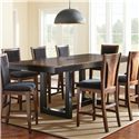 Steve Silver Julian Counter Height Dining Table - Item Number: JN700PB+PT