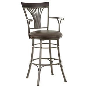 Belfort Essentials Karol Jumbo Swivel Chair with Armrest