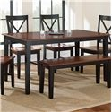 Morris Home Furnishings Kingston Rectangular Leg Table - Item Number: NT3660TK