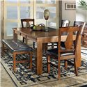 Morris Home Furnishings Lakewood  Dining Bench with Tufted Top - Shown as part of table set