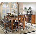 Morris Home Furnishings Lakewood  Dining Bench with Tufted Top - Shown with server