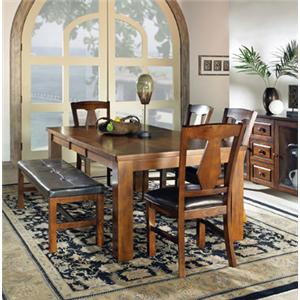 Vendor 3985 Lakewood  6-Piece Dining Table Set w/ Bench