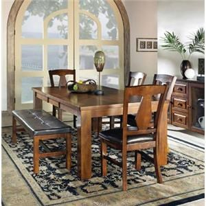 Steve Silver Lakewood  Dining Leg Table & 6 Side Chairs