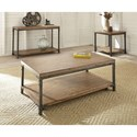 Steve Silver Lantana Sofa Table with Metal Frame
