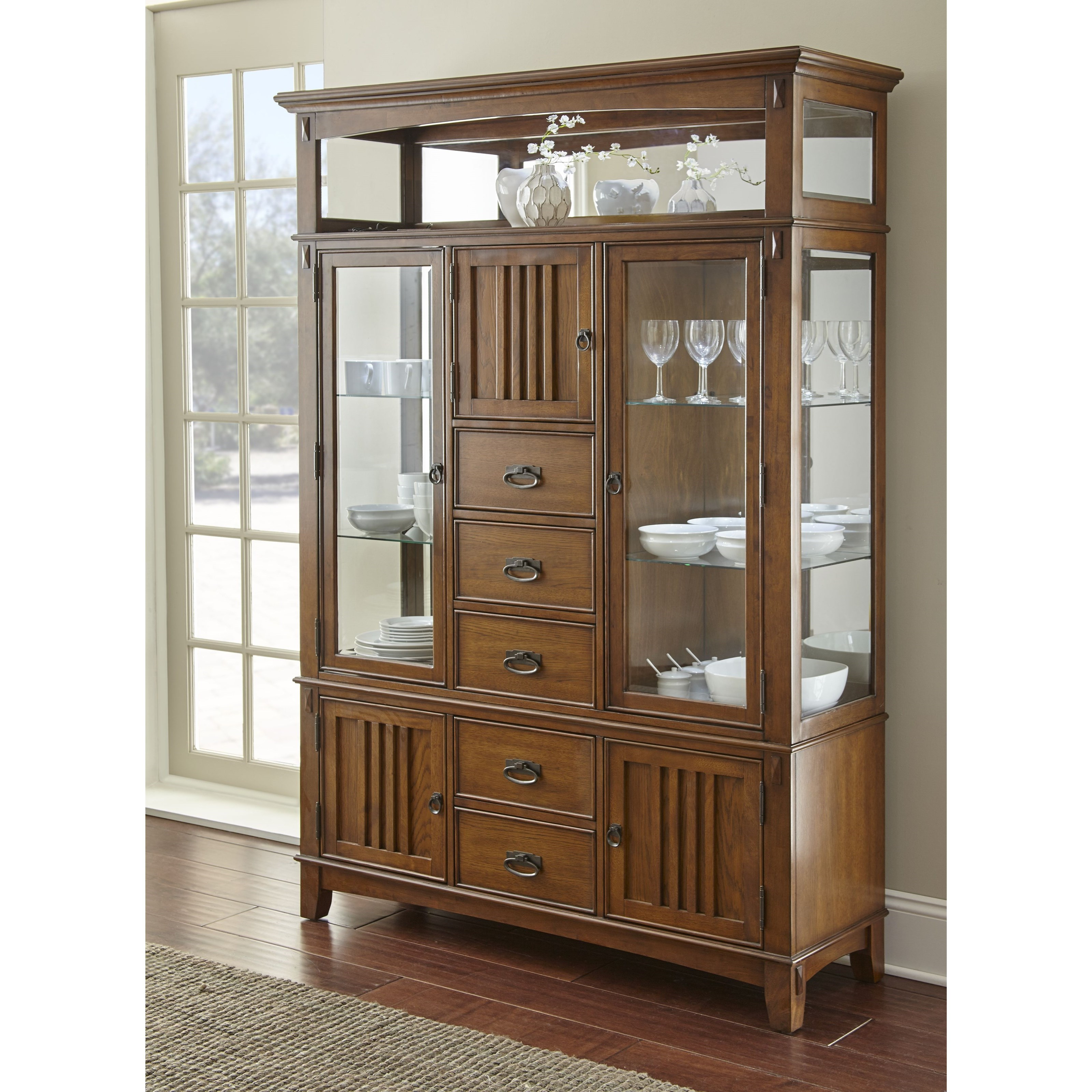 Star Larkin Lk550 Mission Buffet And Hutch With Mirrored