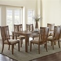 Steve Silver Larkin LK550 7 Piece Table and Chair Set - Item Number: LK550T+2xLK550A+4xLK550S
