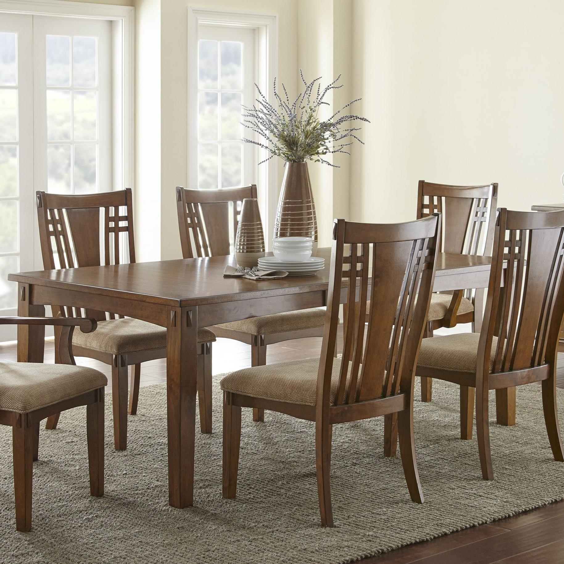 Steve Silver Larkin Lk550 Mission Rectangular Table With 20 Leaf Vandrie Home Furnishings