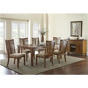 Steve Silver Larkin LK550 8 Piece Table and Chair Set