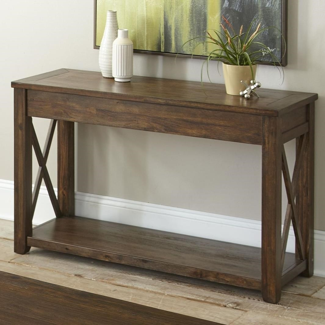 Vendor 3985 Lenka LK100S Rustic Farmhouse Sofa Table with ...