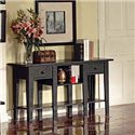 Morris Home Furnishings Liberty Casual 2-Drawer 2-Shelf Sofa Table