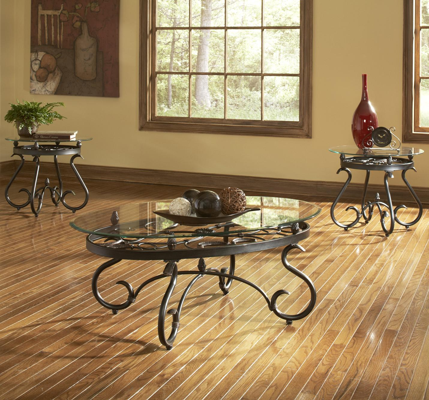 steve silver lola traditional 3 pack occasional table set wayside