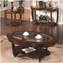 Morris Home Furnishings London  Round End Table - Shown with Cocktail & Sofa Table