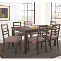 Steve Silver Lyndon Dining Set - Item Number: LD500T+6x550S
