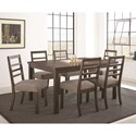 Steve Silver Lyndon Dining Table with Block Legs