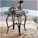 Steve Silver Madrid End Table Base & Glass Top - Item Number: SR250ETB+EBB