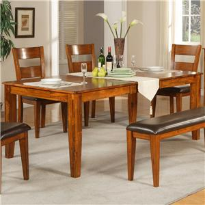 Morris Home Furnishings Mango Rectangular Leg Table