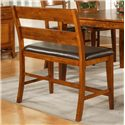 Morris Home Furnishings Mango Counter Height Bench - Item Number: GO900BNK