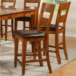Morris Home Furnishings Mango Ladder Back Counter Stool
