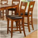 Vendor 3985 Mango Ladder Back Counter Stool - Item Number: GO900CCK