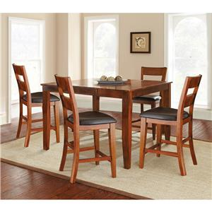 Steve Silver Mango Counter Table & 4 Counter Chairs