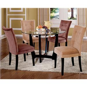 Vendor 3985 Matinee Glass Top Dining Table & Chair Set