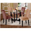 Vendor 3985 Matinee Glass Top Dining Table & Chair Set - Item Number: MT200B+T+CH+CA