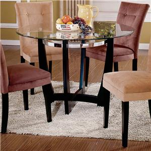 Morris Home Furnishings Matinee Glass Top Dining Table