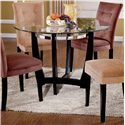 Steve Silver Matinee Glass Top Dining Table - Item Number: MT200T+B