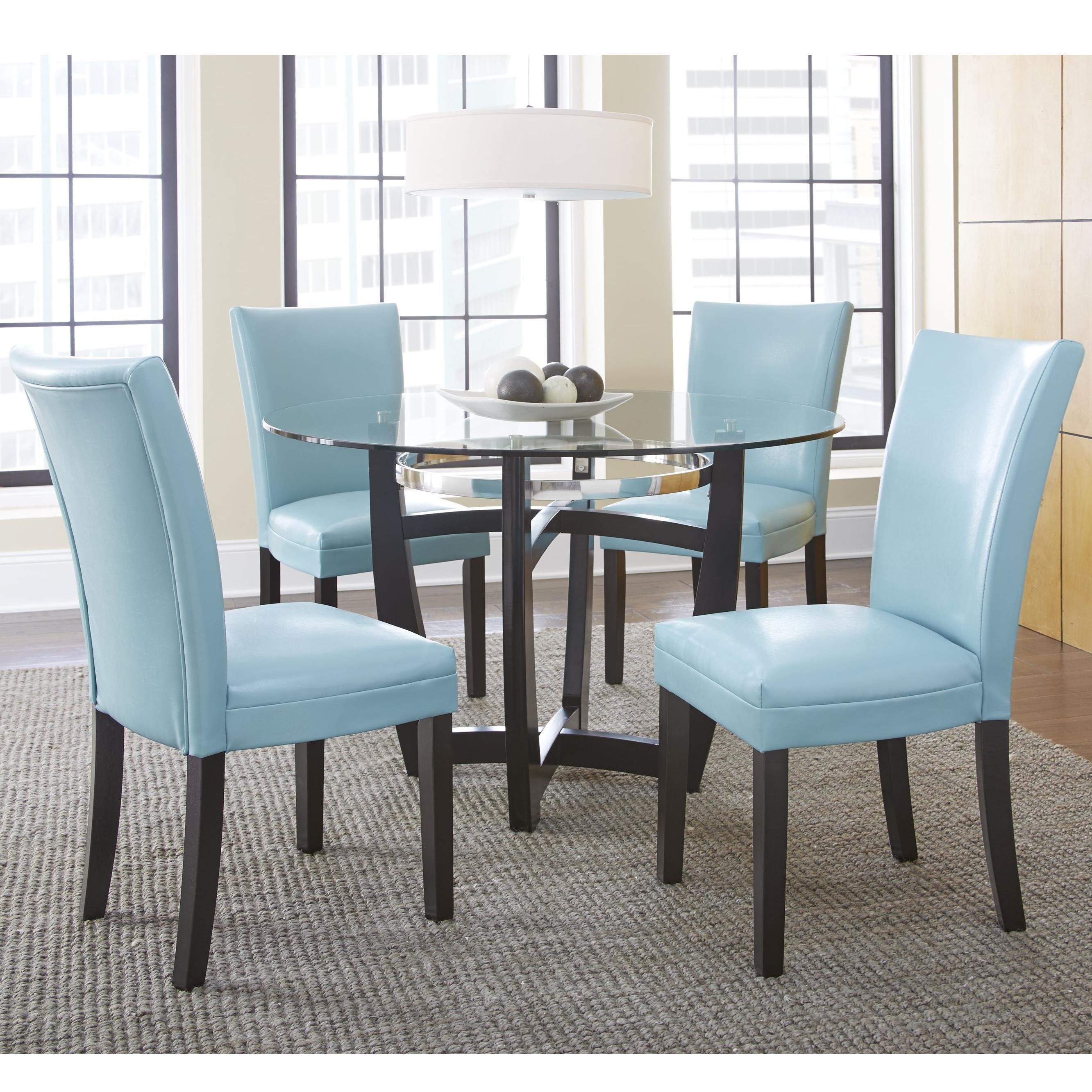 Steve Silver Matinee 5 Piece Dining Set With Parson Side
