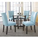 Vendor 3985 Matinee 5 Piece Dining Set - Item Number: MT480B+T+4xSA