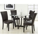 Vendor 3985 Matinee 5 Piece Dining Set - Item Number: MT480B+T+4xSK