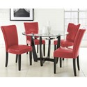 Vendor 3985 Matinee 5 Piece Dining Set - Item Number: MT480B+T+4xSR