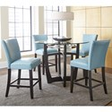 Steve Silver Matinee 5 Piece Counter Height Dining Set - Item Number: MT480PB+T+4xCCA