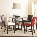 Steve Silver Matinee 6 Piece Counter Height Dining Set - Item Number: MT480PB+T+CCA+CCG+CCK+CCR+CCW