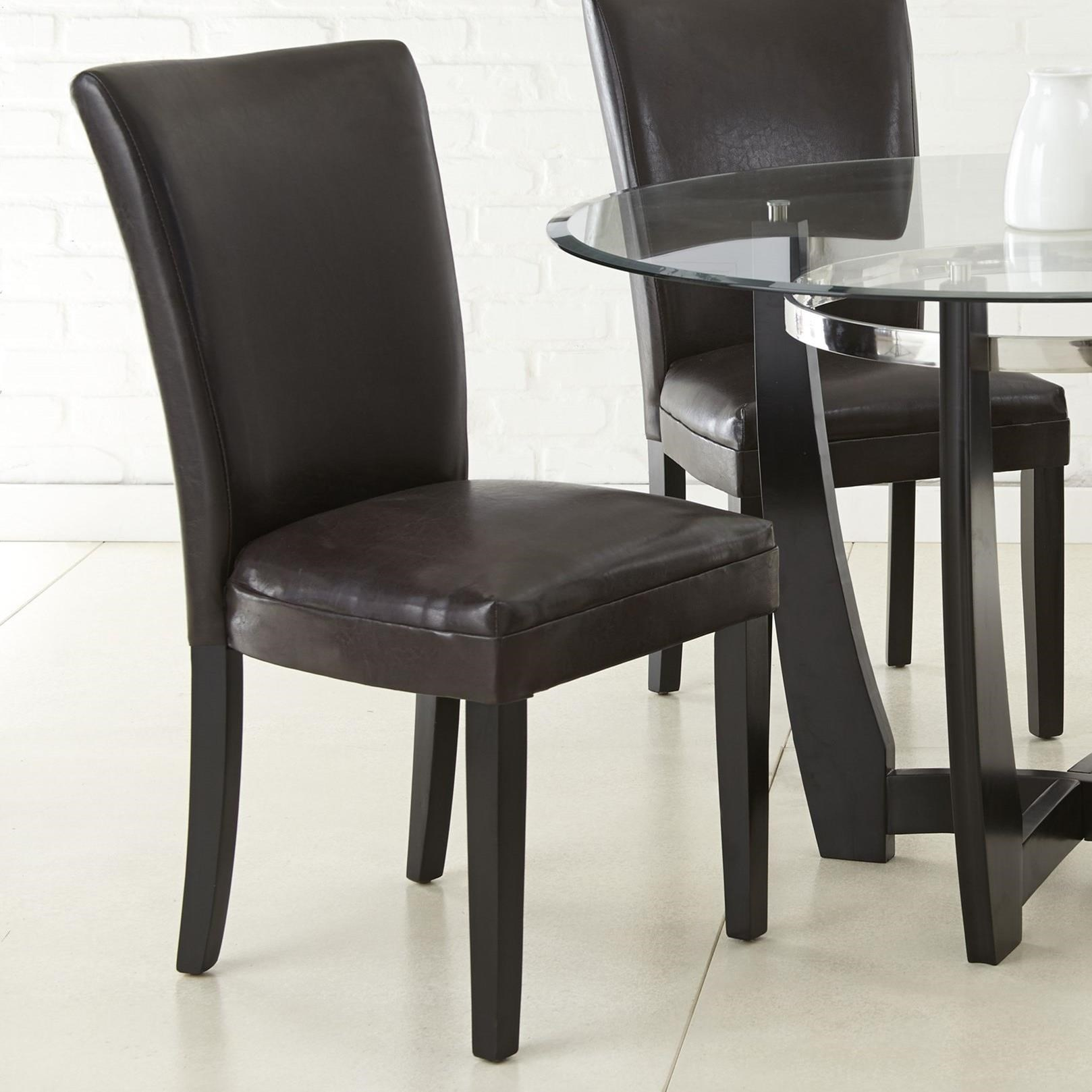 Steve Silver Matinee Bonded Leather Side Chair - Item Number: MT480SK