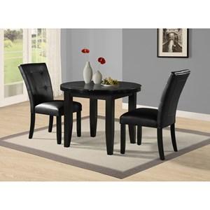 3-Piece Round Table and Chair Set