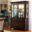 Steve Silver Marseille Transitional 2 Drawer, 2 Door Dining Buffet - Shown with Hutch