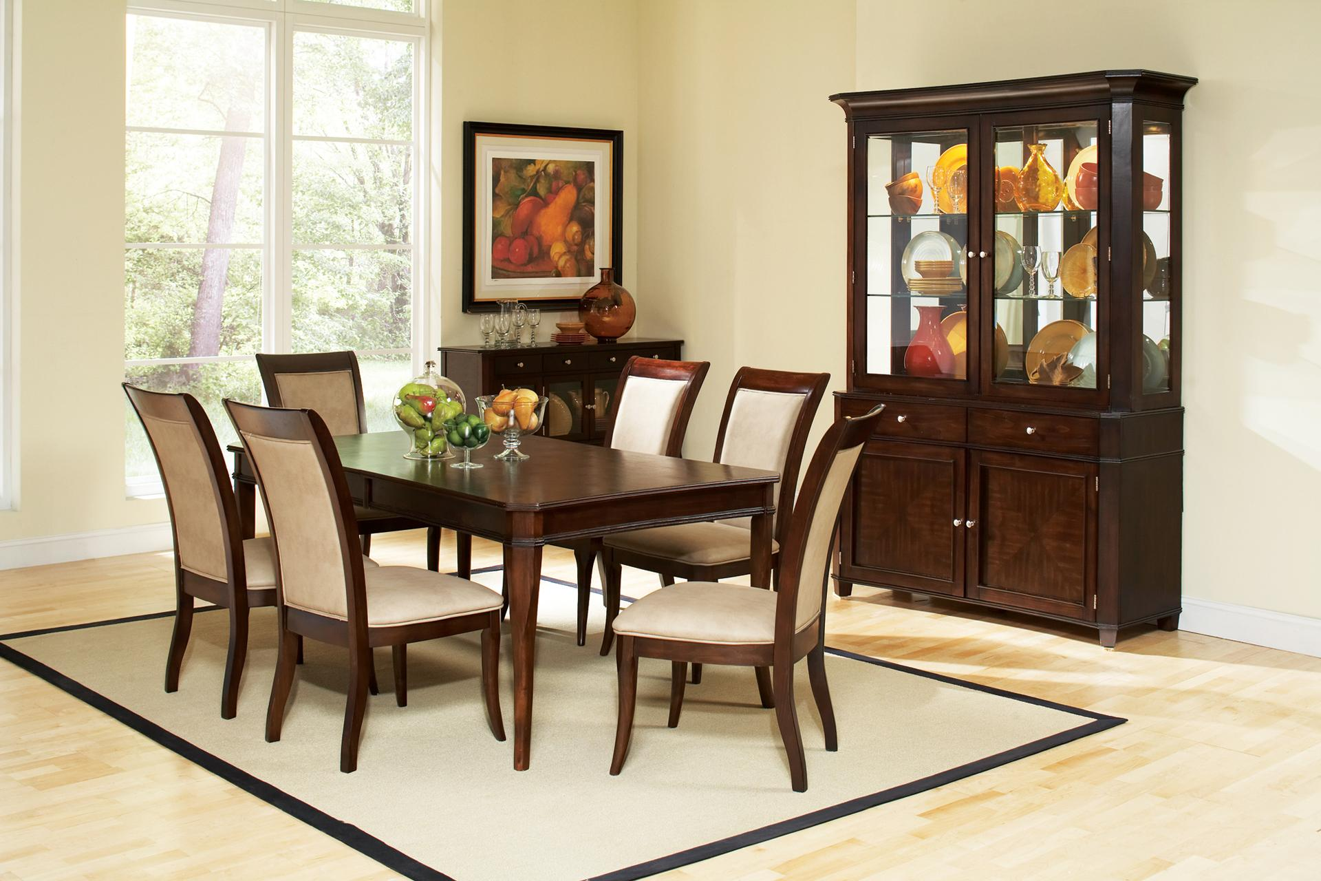 Steve Silver Marseille 7-Piece Dining Set - Item Number: MS800T+6xMS800S