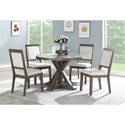 Steve Silver Molly 5 Piece Table and Chair Set - Item Number: MY4848T+4x400S