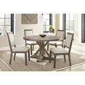 Steve Silver Molly 5 Piece Table and Chair Set - Item Number: MY5454T+4x400S