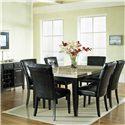 Steve Silver Monarch Marble Veneer Top Leg Table - Table in Room Setting