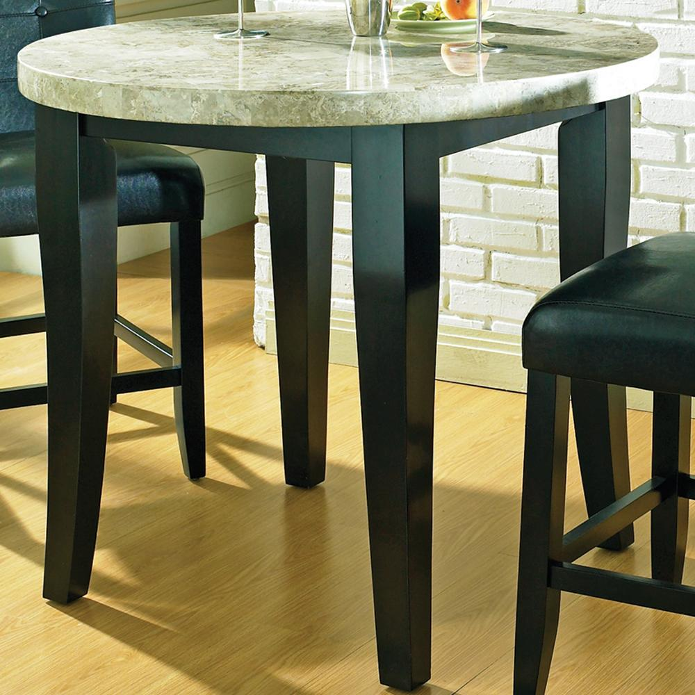 Steve Silver Monarch Marble Veneer Top Round Leg Table - Item Number: MC600PT