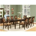 Vendor 3985 Montblanc Table and Chair Set - Item Number: MB500T+2xMB500A+6xMB500S