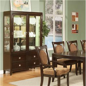 Morris Home Furnishings Montblanc Curio Cabinet